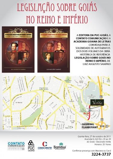 Lançamento do livro Legislação sobre Goiás no Reino e Império no stand do Vistta