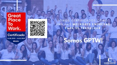 Consciente recebe o selo GPTW - GREAT PLACE TO WORK