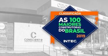 Consciente Construtora é classificada entre as maiores construtoras do Brasil