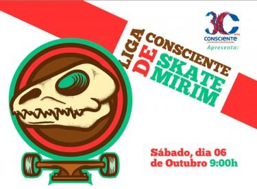 2ª etapa da Liga Consciente de Skate Mirim acontece amanhã
